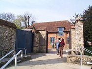 Entrance to Visitors Center - through a converted Coach House, now the Cathedral shop