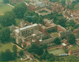 Aerial view of Winchester College, - Copyright Hampshire Chronicle