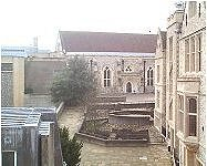 View from the roof looking toward the Great Hall