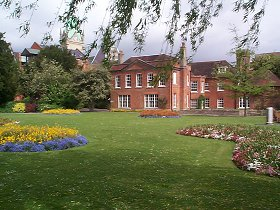 A view of Abbey Gardens - The building in the background is Abbey House.