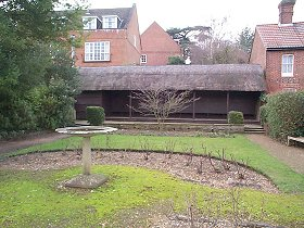 Friary Gardens Pavillion - (The roof is thatched).