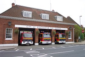 City of Winchester Fire Station, and a link to the fire service web site.