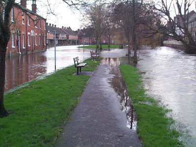 The River flowing into Water Lane