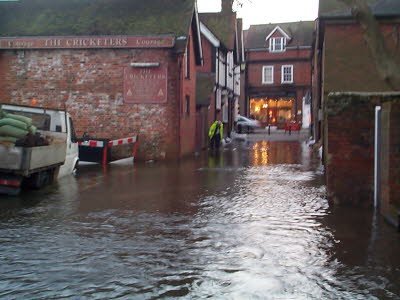 Water Lane at the junction with Bridge Street