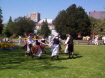 Dancing in Abbey Gardens