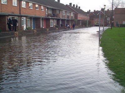 View looking up Water Lane